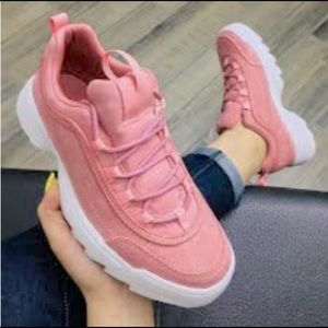 New pink sneakers